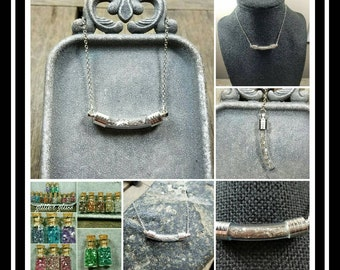 Memorial Ash Glass Vial Necklace  /Memorial Necklace/ Memorial/Cremation Necklace/ Pet Memorial Jewelry/ Pet Memorial Vial/Vial Necklace