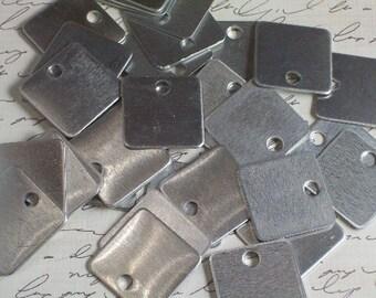 10 Aluminum 1 Inch Squares - 18 Gauge
