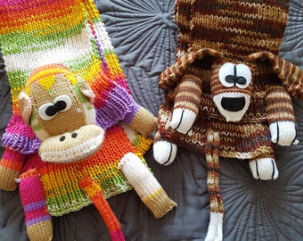 Hand knitted Animal Scarves