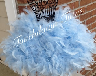 Baby blue feather tutu customize your own
