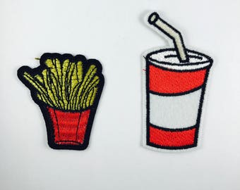 Frites et le Soda fer sur pack patch