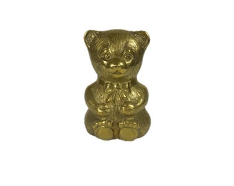 Vintage Brass Bear Piggy Bank