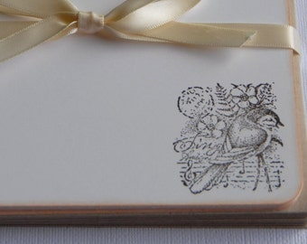 Flat Note Cards - Song Bird - Set of 10