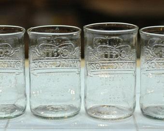 YAVA Glass - Upcycled IBC Cream Soda Bottle Glasses (Set of 4)