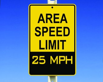 25 MPH Speed Limit Aluminum Sign