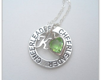 CHEERLEADER Necklace with Sterling Silver Initial N087