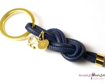 Ahoy! Key Ring Leather & gold art. 204