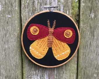 Moth Hand Embroidery