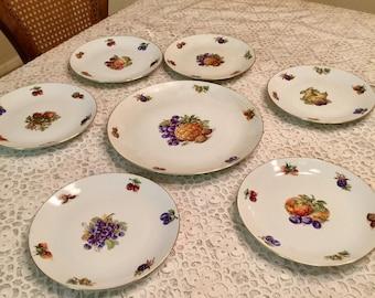 Vintage Dessert Plate Set 7 Pieces