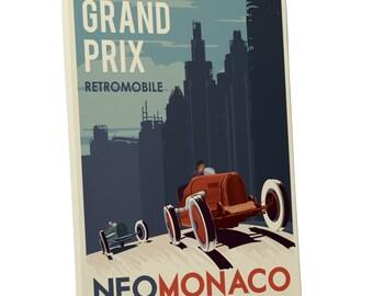 Steve Thomas 'Retromobile Grand Prix' Gallery Wrapped Canvas Print