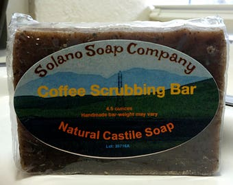 Coffee Infused Scrubbing Soap Bar