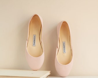 The Classic Ballet Flats in Blush | Pointe Style Shoes | Blush | Ready to Ship
