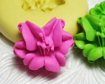 LILY Mold Flower Flexible Silicone Rubber Push Mold for Resin Wax Fondant Polymer Clay Ice