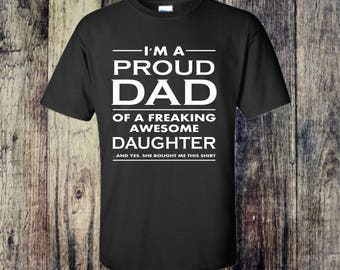 Proud Dad, Gift For Dad, Father Daughter Gift, New Dad Gift, Gift For Him, Christmas Gift, Father's Day Gift, Birthday Gift For Husband,