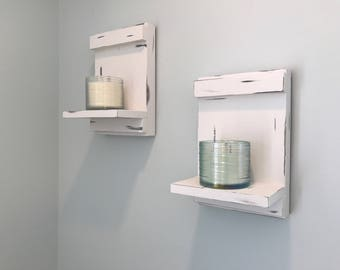 Rustic Distressed Large Candle Sconces