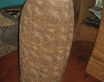 Leopard/Cheetah Midi Skirt