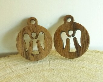 Wooden Angel Charms - Angel Charms - Wooden Charms - Wood Charms - Angel Earring Charms - Earring Charms - Bracelet Charms - Angel Findings