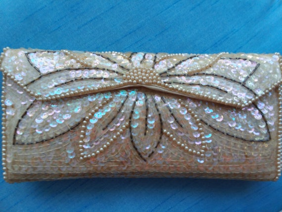 Amazing VTG Sequinned Evening Bag by Stylecraft Miami