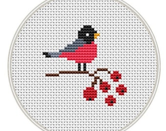 Bird cross stitch pattern, Counted cross stitch pattern, small pattern, Instant Download,  cross stitch PDF, cross stitch bird, MCS134
