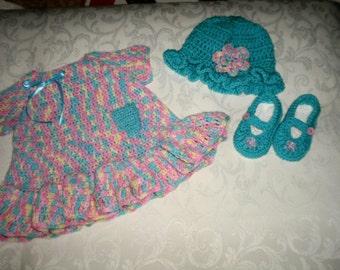 Ensemble de robe coloré 3 pièces pour 6 à 12 mois