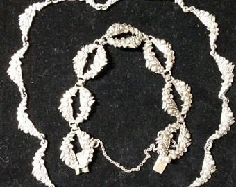 Margot De Taxco Necklace and Bracelet Set