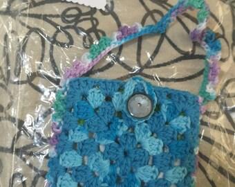 Crocheted Granny Square Purse #161