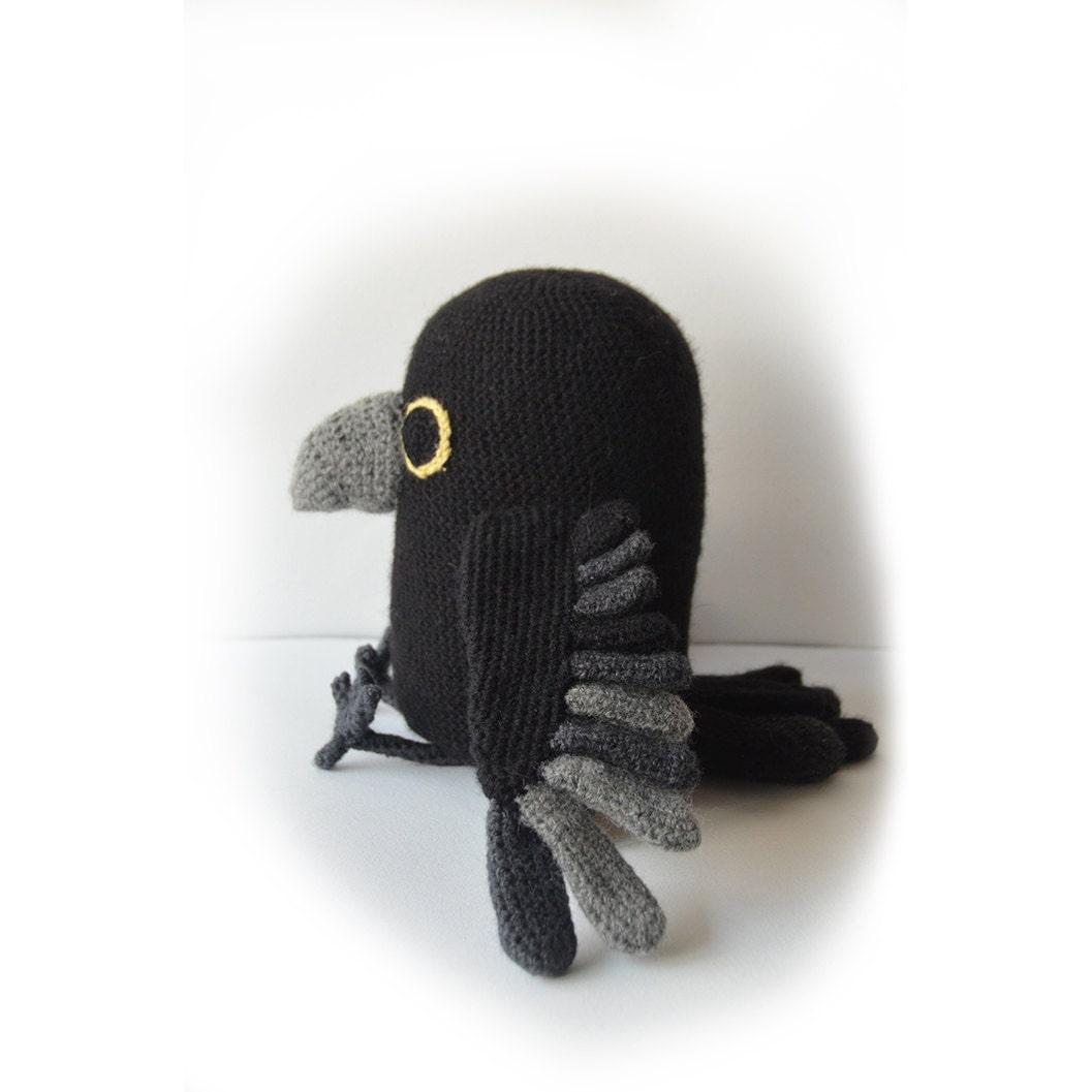 Raven Crochet Pattern Amigurumi Raven Pattern Bird Crochet