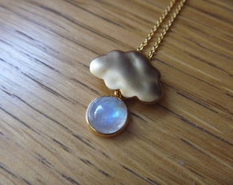 Moonstone cloud necklace