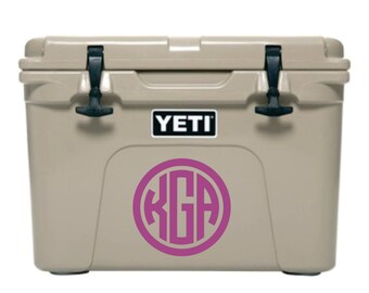 Monogram for Cooler, Cooler Monogram Decal, Car Monogram Decal, Cooler Decal