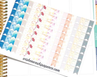 Patterned Page Flag Stickers - Decorative Page Flag Stickers - Pretty Page Flag Stickers - Page Flags - Planner Stickers