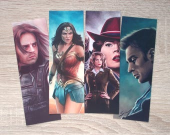Superhero bookmarks - Winter Soldier, Wonder Woman, Captain America & Co!