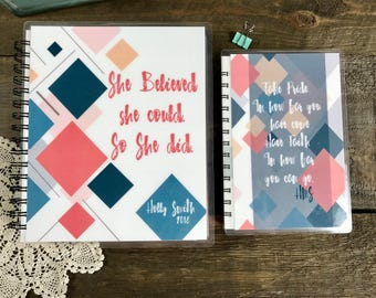 Life of Grace Planner and Healthy Life Journal BUNDLE  | She Believed she Could
