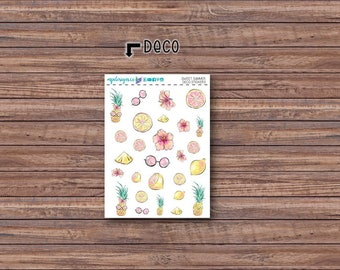 Sweet Summer Deco Stickers | ECLP | Happy Planner | Recollections Planner