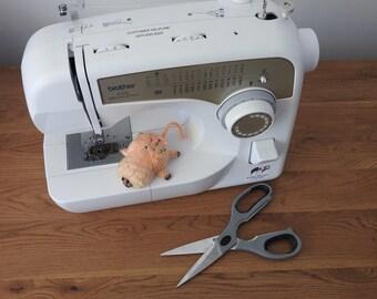 Hand knitted Golden Lion Tamarin/Marmoset (monkey) Pin Cushion Critter, Desk Toy, #OOAK