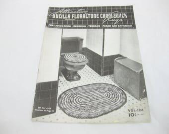 Bucilla Floraltone Candlewick Rugs, 1937, Crocheted Rug Patterns