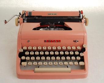 Pink Typewriter, Royal Quiet Deluxe, 1950s