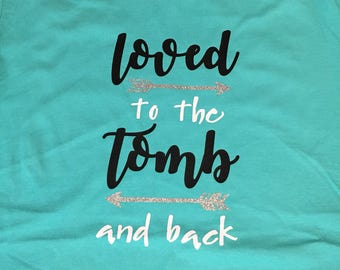 Easter shirt - Christian Easter shirt - Christian shirt - Resurrection shirt - tomb shirt - holiday shirt - turquoise shirt - adult easter
