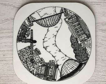 Newcastle coaster