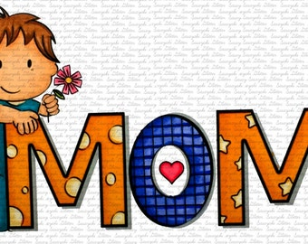 Shy Loves Mom Digital Stamp by Sasayaki Glitter
