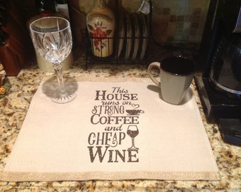 Coffee Bar Placemat