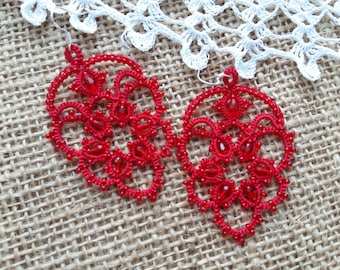 Chandelier Earrings lace earrings, mystery Jewellery  Earrings   gift for her  lace jewelry  bridesmaid earrings  Lightweight earrings