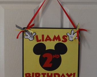 Mickey Mouse Door Sign - Party Supplies, Birthday Decorations, Party Decorations