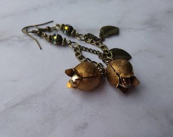 Vintage tulip earrings