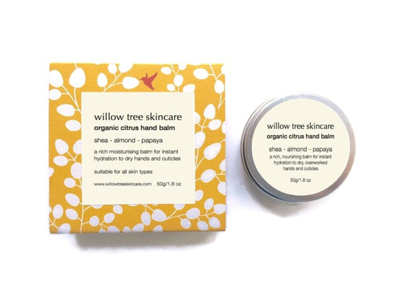 Organic Hand and Nail Balm, Nurses salve, AHA Hand Salve infused with Shea, Citrus and Papaya