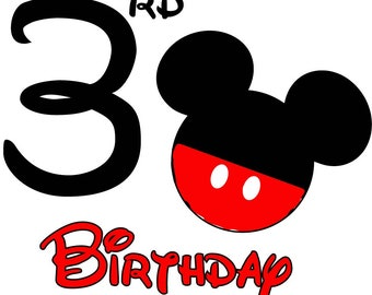 Mickey Mouse Birthday Shirt (Age 3)