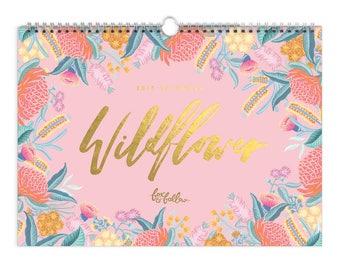 SALE 50% OFF! 2018 Wildflower Wall Calendar