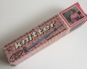 KTEL Knitter. Knits and crochets with one needle. As seen on TV. Patterns, 2 knitter size needles, yarn. knitting, crocheting