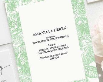 Green Wedding RSVP's