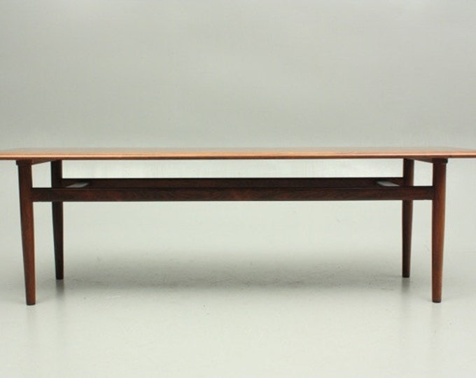 Danish Mid-Century Modern Teak Coffee Table by Hvidt & Mølgaard
