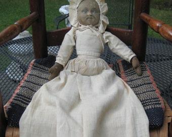 Vintage Bruckner Black Rag Doll